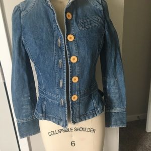 Marc Jacobs fitted denim military jacket
